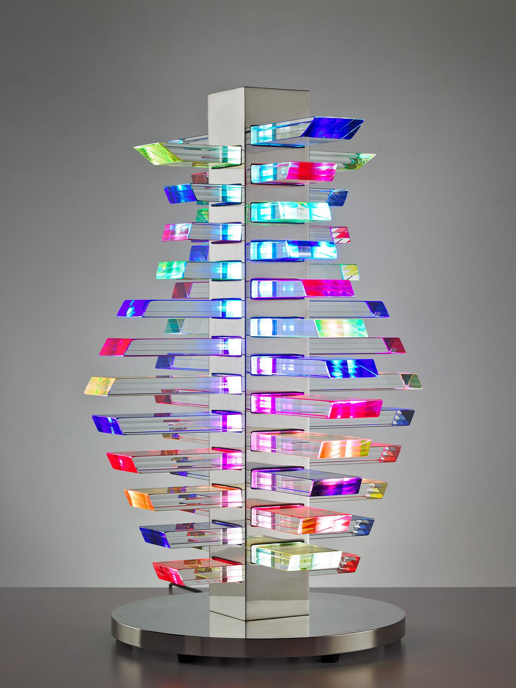 Sidney Hutter LED lit glass art