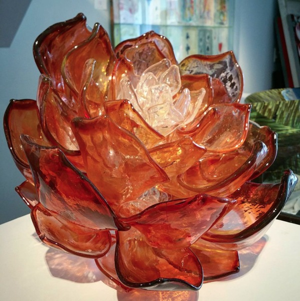 Glass sculpture by Martin Blank