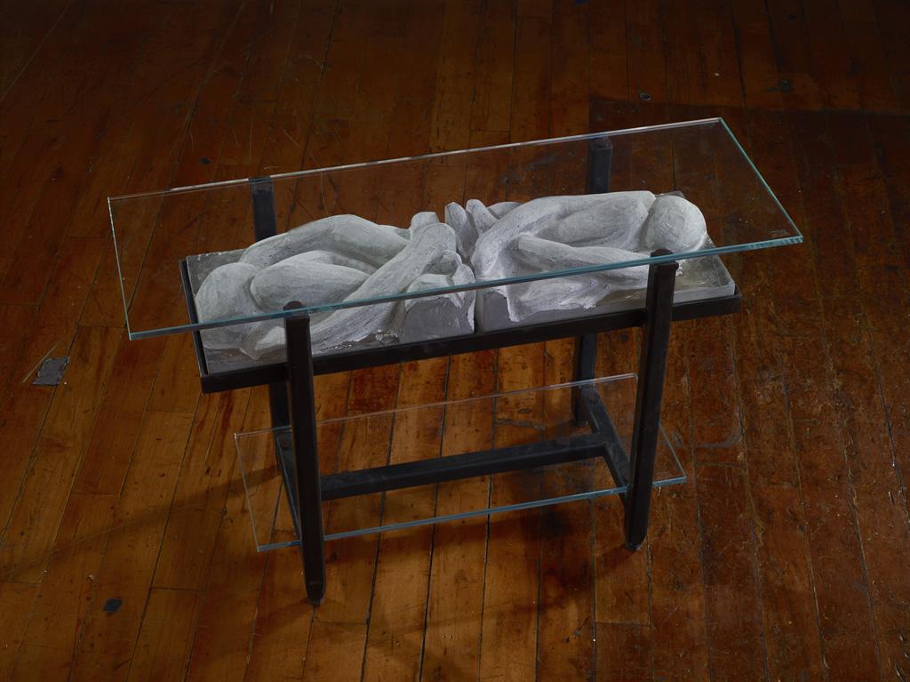 Rick Beck Cast glass art table
