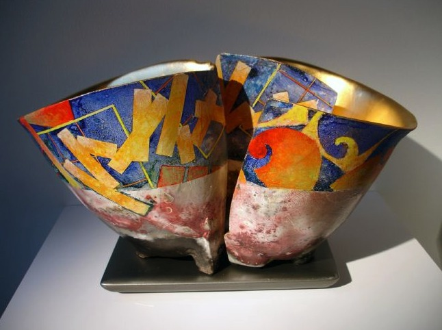 Painted Ceramic sculpture by Bennet Bean