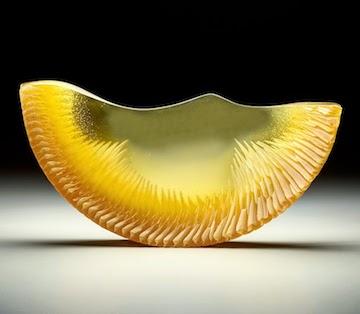 Alex Bernstein glass art at Habatat Galleries