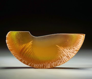 Alex Bernstein glass art at Habatat Galleries