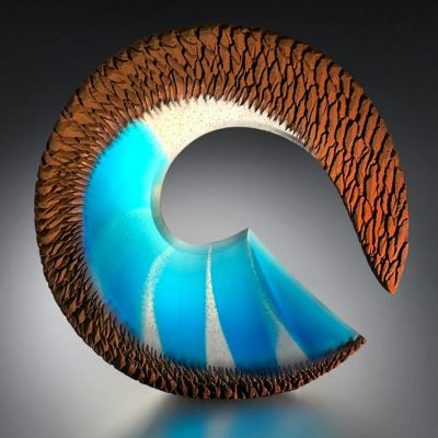 Alex Bernstein glass sculpture