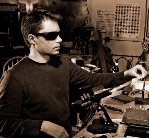 Chris Ahalt working