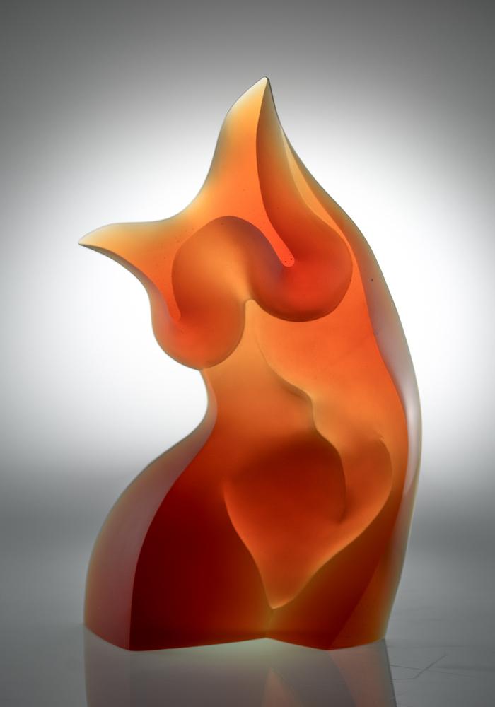 Latchezar Boyadjiev cast glass sculpture