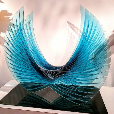 Laminated glass sculpture by Tom Marosz