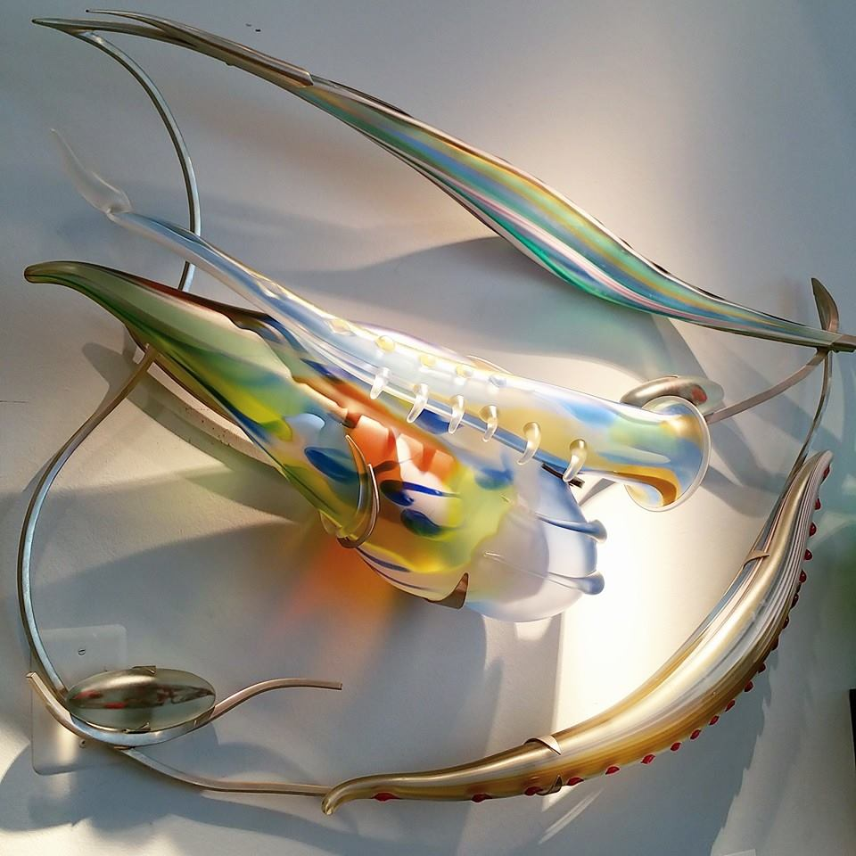 Dan Daily glass art at Habatat Galleries