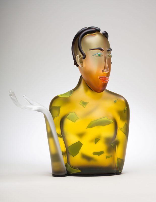 Glass figurative glass sculpture by Dan Dailey