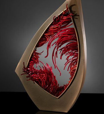 Shayna Leib glass and steel sculpture