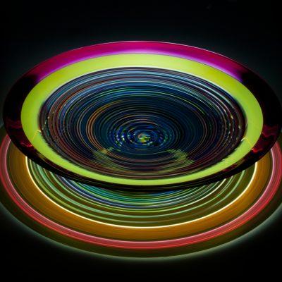 Stephen Rolfe Powell blown glass sculpture