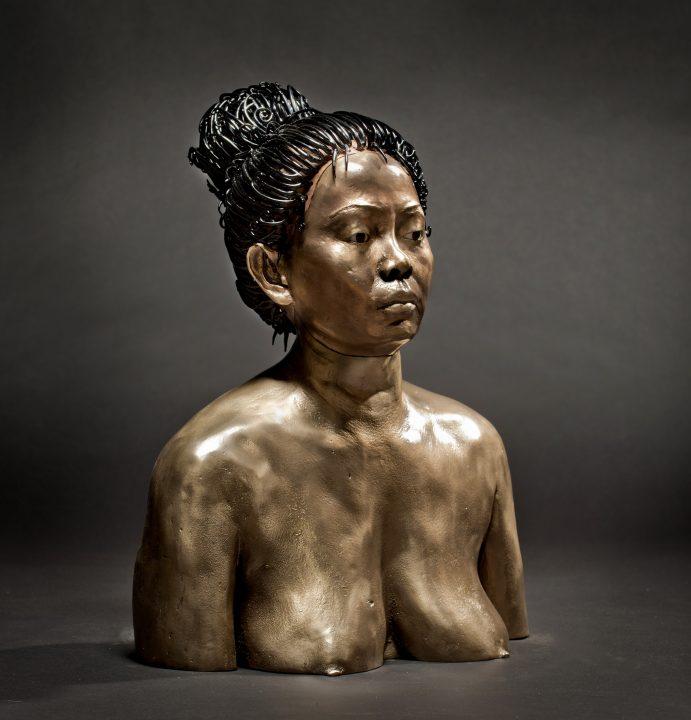 Miles Van Rensselaer Glass and bronze art at Habatat Galleries Florida