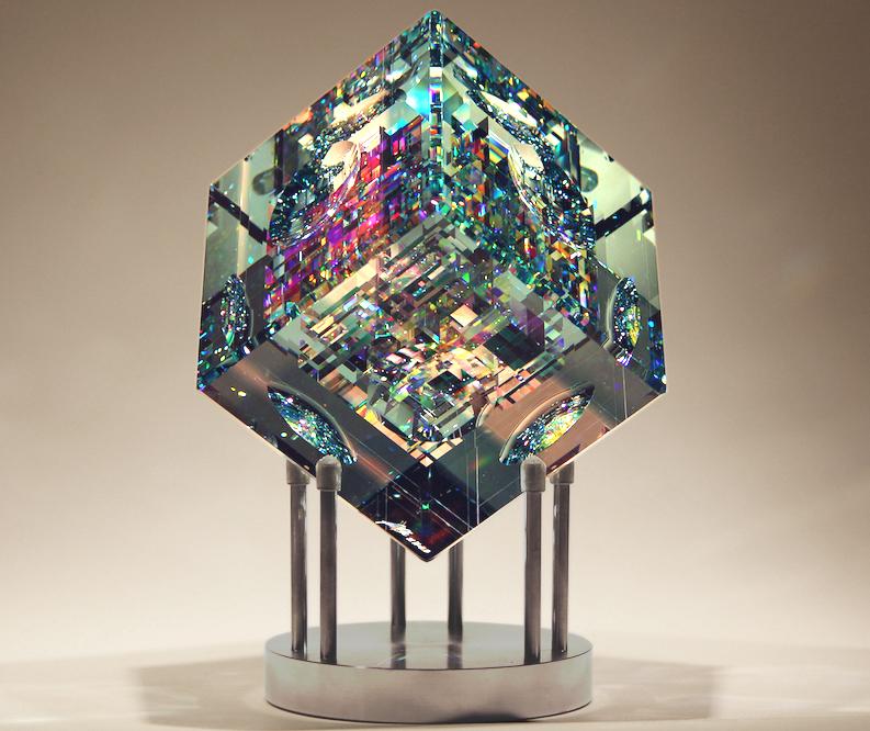 Jack Storms glass sculpture at Habatat Galleries Florida