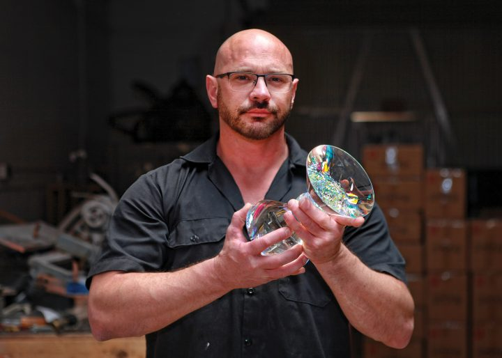 Jack Storms glass art at Habatat Galleries