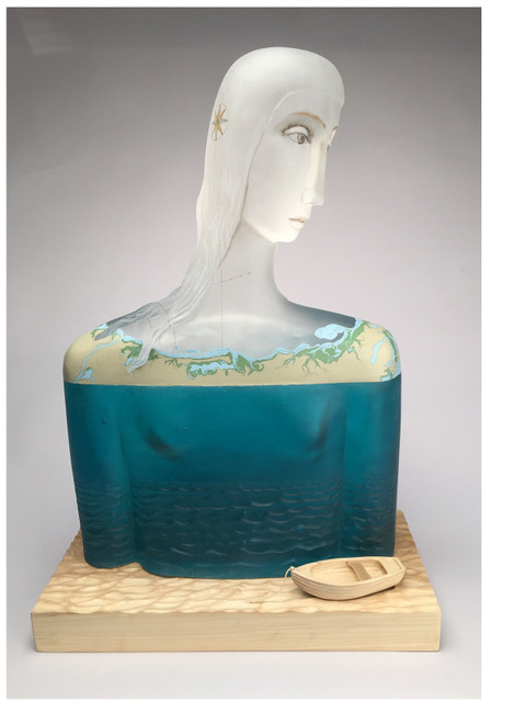 Robin Grebe glass art available at Habatat Galleries, FL