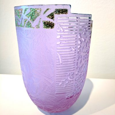 Cast glass vessel by artist Binh Pho
