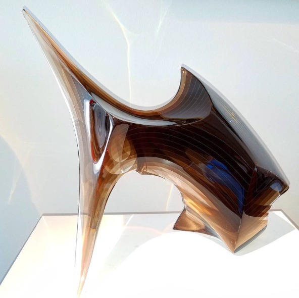 Sculpture of laminated layers by Javier Gomez