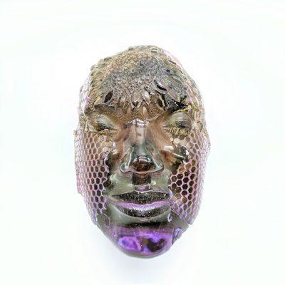 Hilal Hibri Glass sculpture