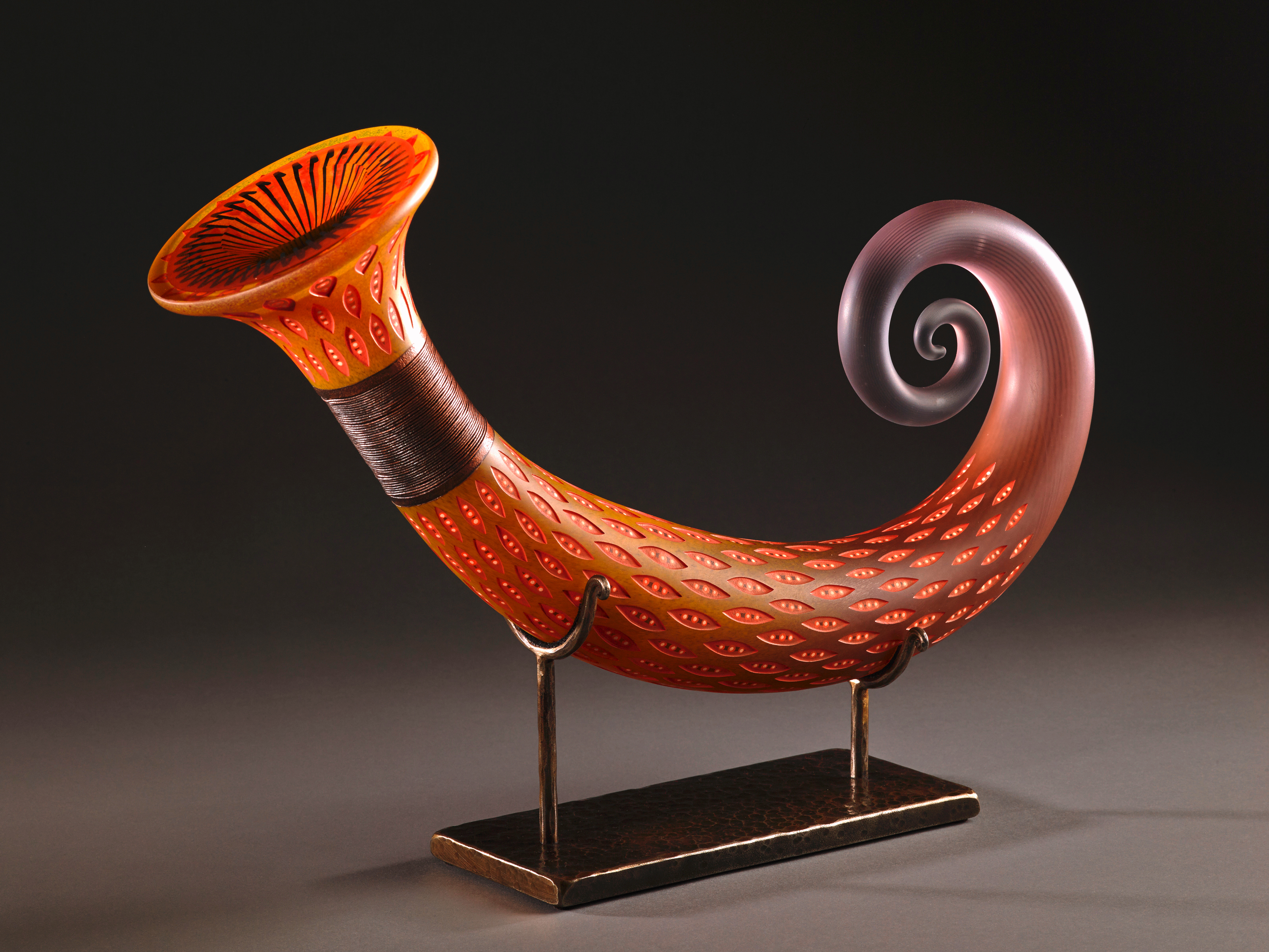 Glass sculpture by Jose Chardiet