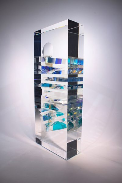 Toland Sand glass sculpture available at Habatat Galleries, FL