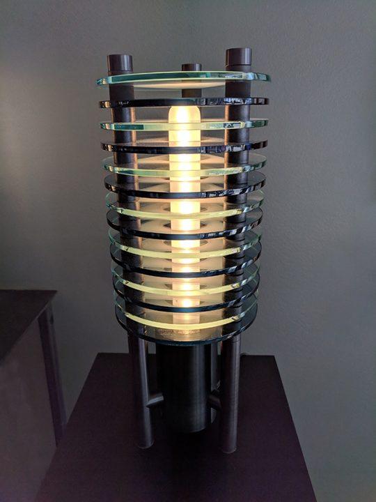 Glass lighting sculpture