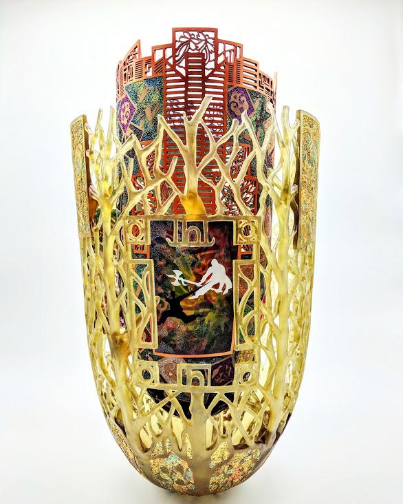 Binh Pho mixed media art at Habatat Galleries Florida