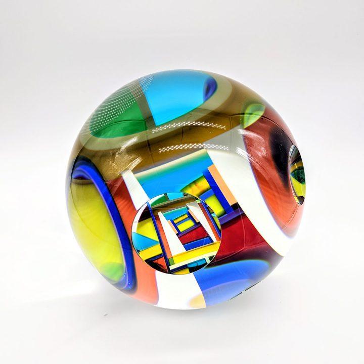 David Huchthausen glass sculpture at Habatat Galleries