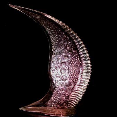 Hilal Hibri cast glass sculpture