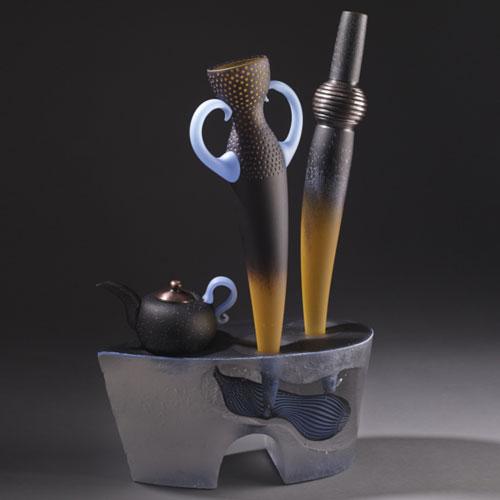 Jose Chardiet glass sculpture at Habatat Galleries