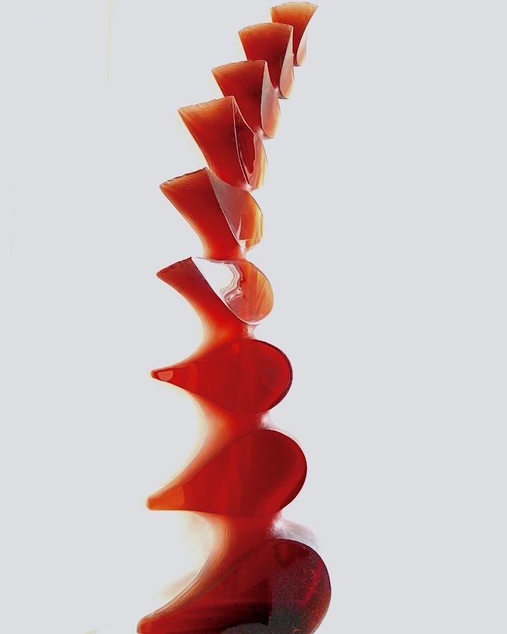 Cast glass sculpture by Vladimira Klumpar