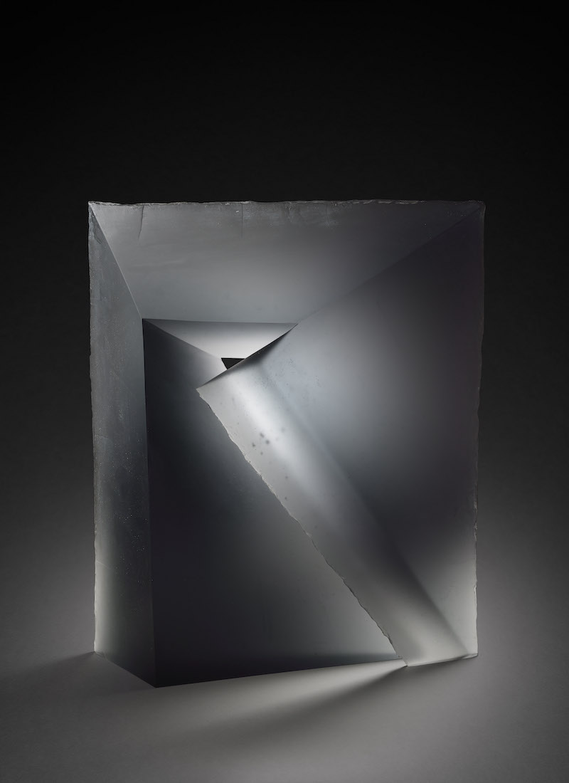 Libensky Bychtova cast glass sculpture