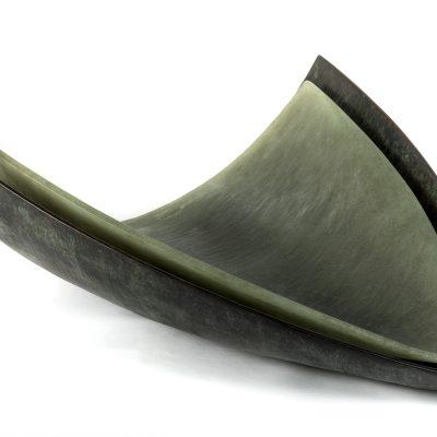 Dan Clayman glass and bronze sculpture