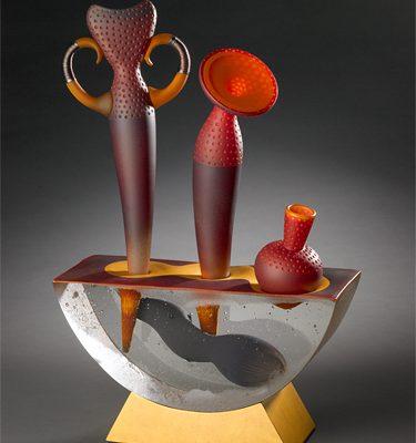 Jose Chardiet glass art sculpture