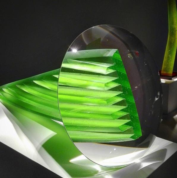 Stepan Pala glass art at Habatat Galleries
