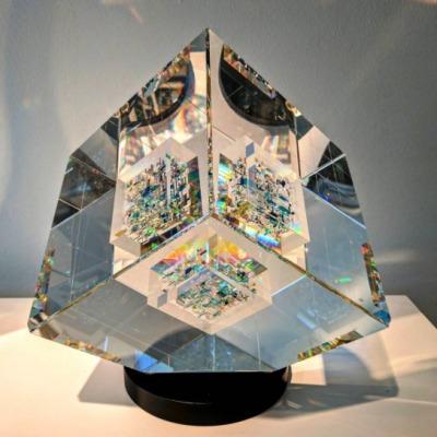 Glass sculpture by Jon Kuhn