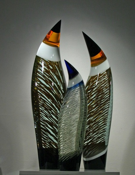 Tomas Hlavicka glass sculpture available at Habatat Galleries