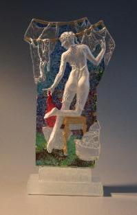 Wendy Saxon Brown glass sculpture