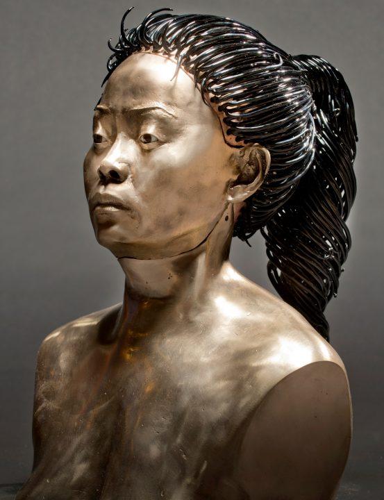 Miles Van Rensselaer Glass and bronze art at Habatat Galleries FloridaMiles Van Rensselaer mixed media art