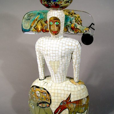 Glass and ceramic narrative sculpture by Robert Palusky