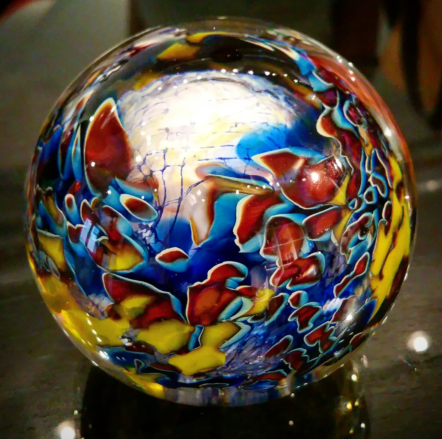 Glass paperweight by Robert Palusky
