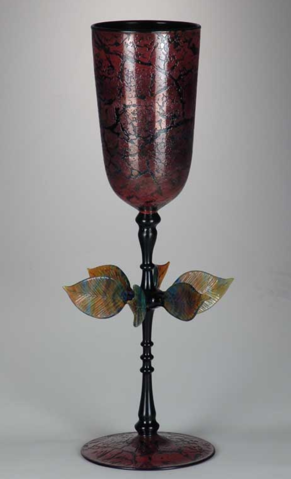 Flameworked glass goblet by Robert Mickelsen