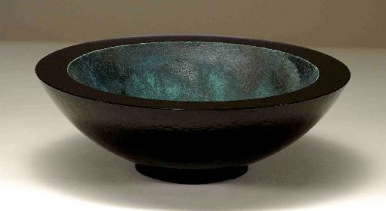 Glass and metal bowl by artist John Lewis