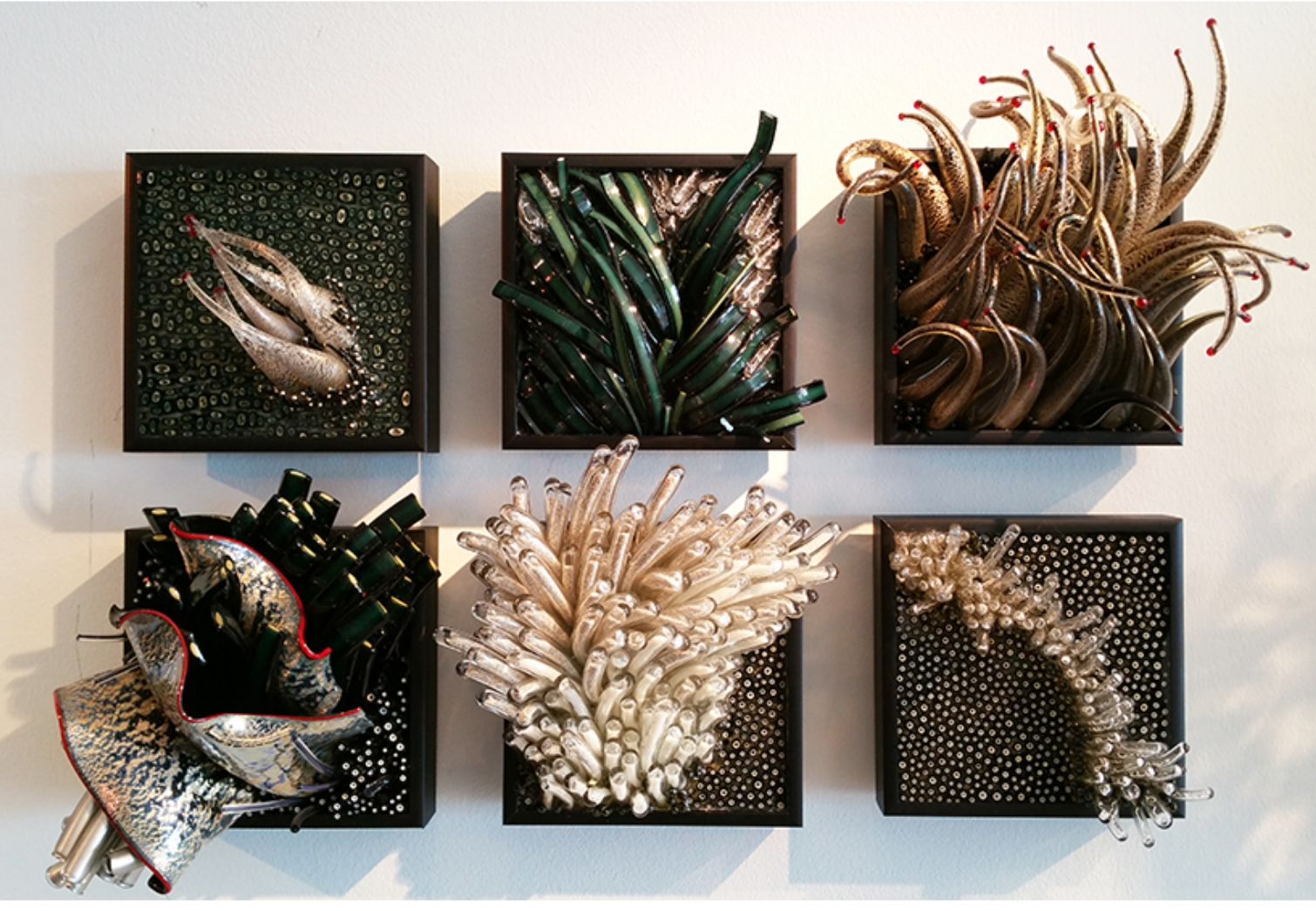 Glass wall art sculpture by Shayna Leib