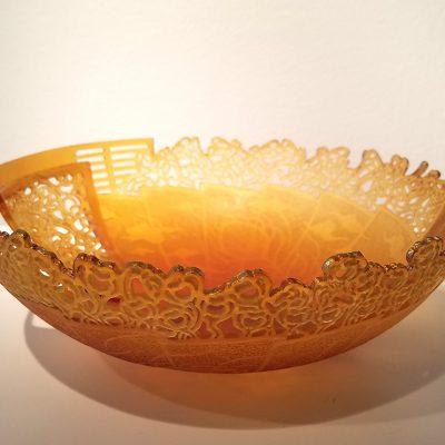 Cast glass bowl by Binh Pho