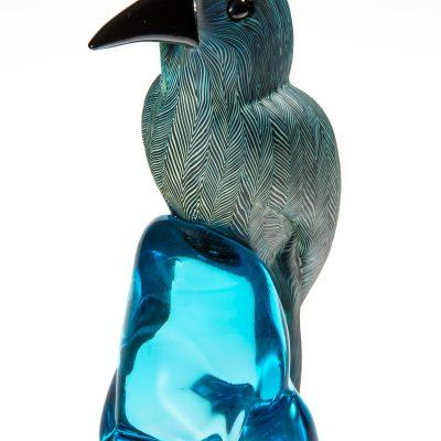 Sculpted glass sculpture bird by Dan Friday