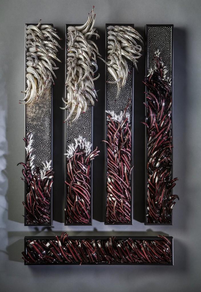 Shayna Leib Glass art at Habatat Galleries