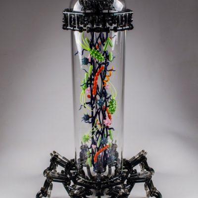 Banjo and Robert Mickelsen glass sculpture