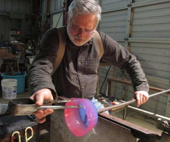 glass sculpture by David Schwarz at Habatat Galleries
