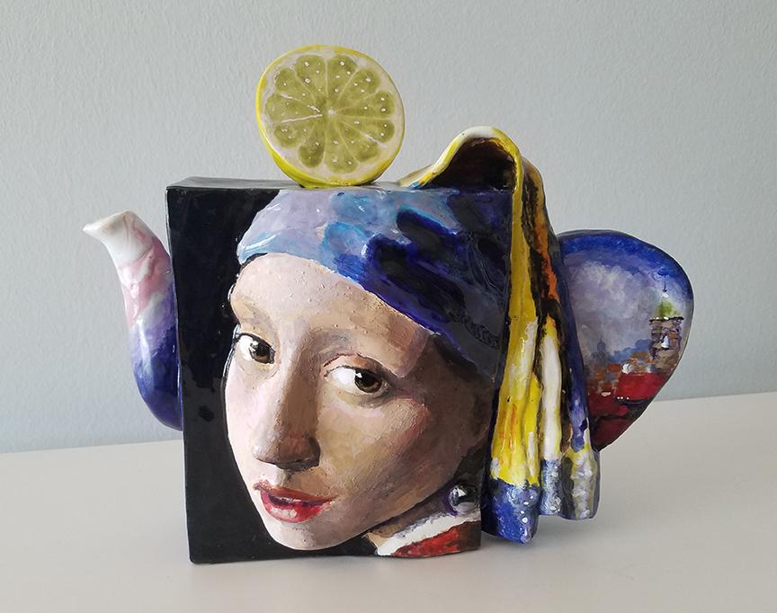 Vermeer style painting teapot