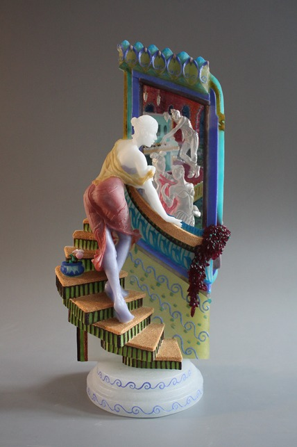 Cast glass sculpture by Wendy Saxon-Brown