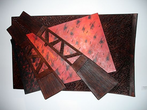 leather wall piece by tanijia & graham